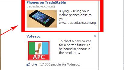 external ads on Facebook