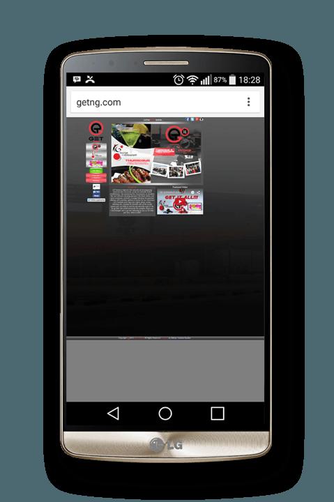 game website on mobile